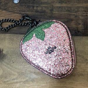 Coach strawberry coin purse